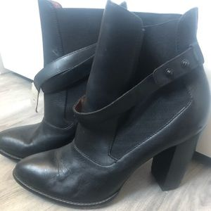 Authentic Leather Heel Boots